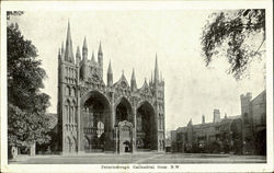 Peterborough Cathedral From N. W