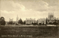 Christ Church & Merton Colleges Postcard