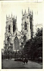 West Front, York Minster Postcard