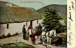 An Irish Hillside Cottage Postcard