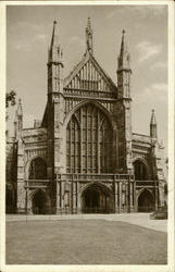 The West Front Begun By Bishop Edyndon Postcard