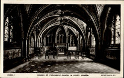 Houses Of Parliament Chapel In Crypt Postcard