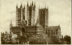 Lincoln Cathedral From S. W