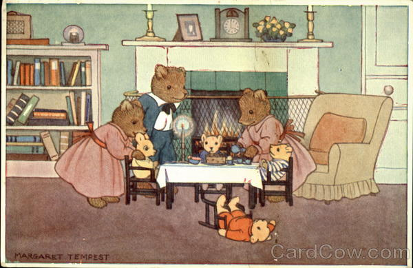 Teddy's Birthday Party Margaret Tempest Artist Signed