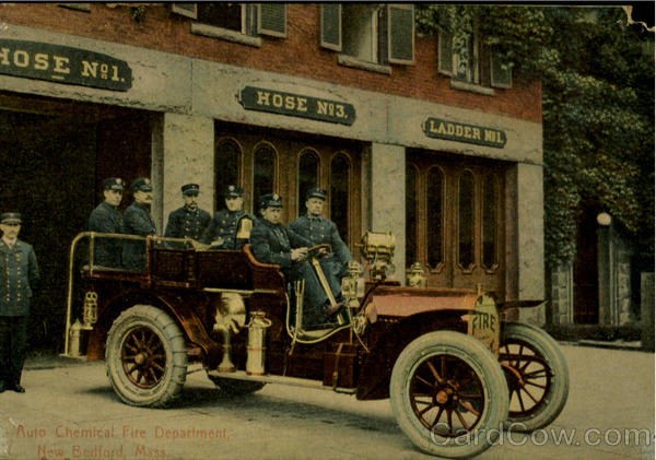 Auto Chemical Fire Department New Bedford Massachusetts