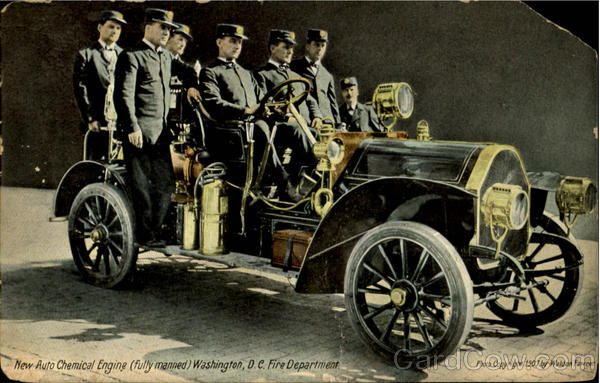 New Auto Chemical Engine, Washington D.C. Fire Department District of Columbia