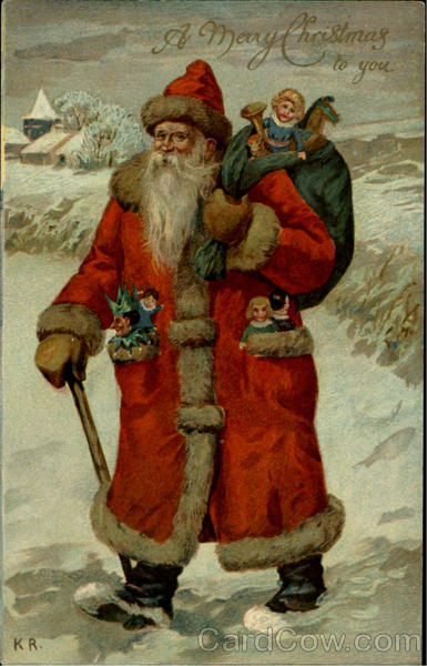 A Merry Christmas To You Ernest Nister Santa Claus