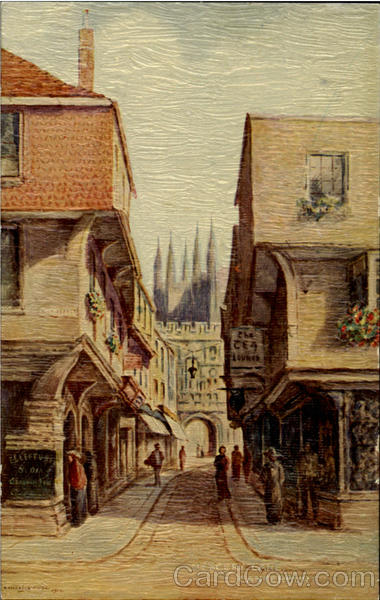 Mercery Lane Canterbury England Art