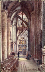 South Aisle Gloucester Cathedral Postcard