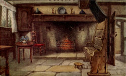 Chimney Corner, Anne Hathaway's Cottage Postcard