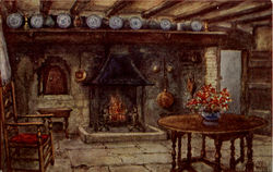 The Kitchen, Anne Hathaway's Cottage Postcard