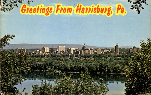 Skyline Of Pennsylvania's Capital City Harrisburg