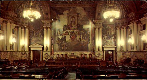 Chamber Of The Pennsylvania House Of Representatives Harrisburg