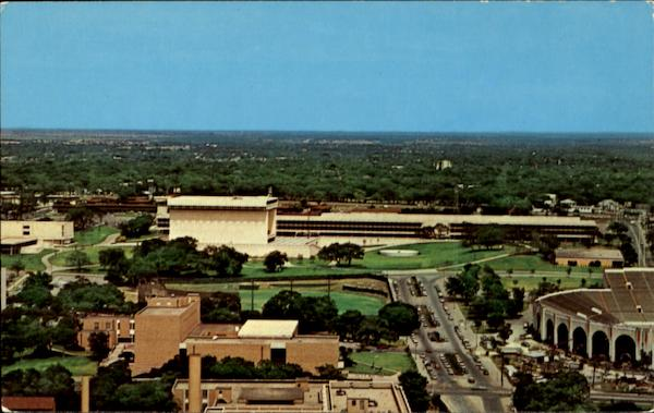 Air View Of The Lyndon Baines Johnson Library And School Of Public Affairs Austin Texas