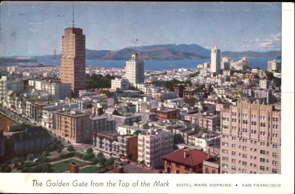 The Golden Gate From Top Of The Mark San Francisco California