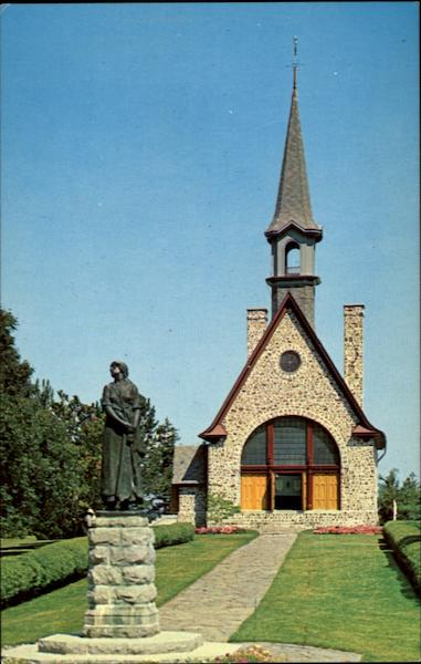 Historic Evangeline Memorial Church And Statue Of Evangeline, Grand Pre National Historic Park Canada