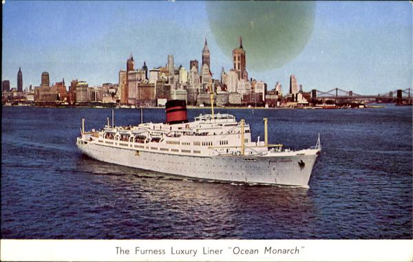 The Furness Luxury Liner Ocean Monarch Boats, Ships