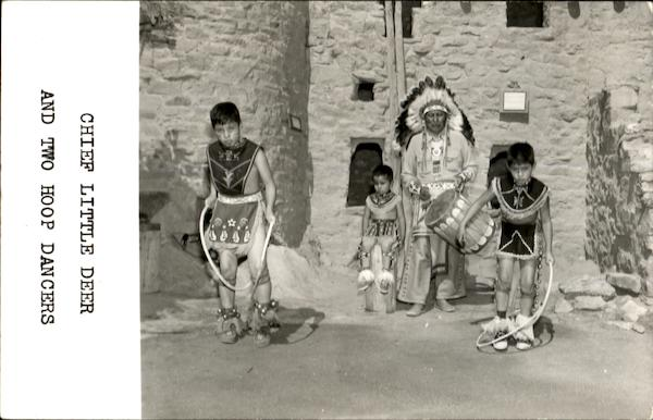 Chief Little Deer And Two Hoop Dancers Native Americana