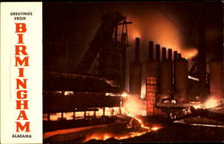 Night View Of Blast Furnace