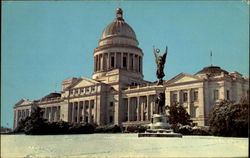 Snow Scene Of The Arkansas State Capitol