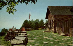 Pictorial View Of Terrace Mount Magazine Lodge Postcard