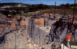 Rock Of Ages Granite Quarry Postcard