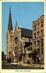 Holy Name Cathedral, Superior Streets Postcard
