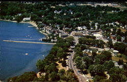 Business Section And Lake Front Of Skaneateles