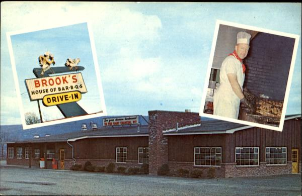Brooks House Of Bar-B-Q's Drive-In Restaurant, Route 7 Oneonta New York