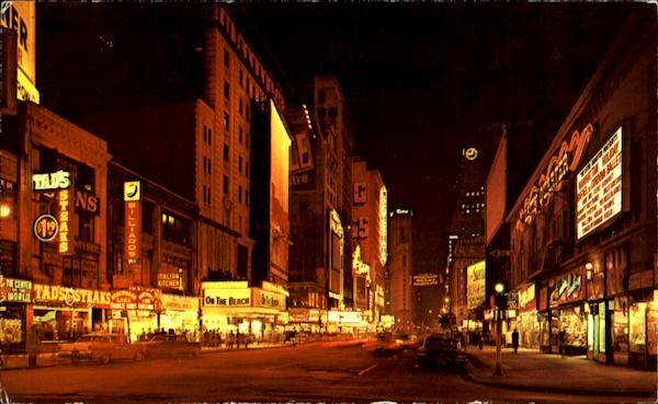 Seventh Avenue At Night, Seventh Avenue Time Square New York