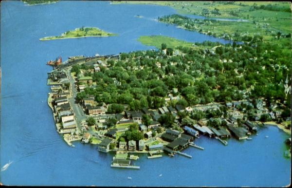 Aerial View Of Clayton Thousand Islands New York