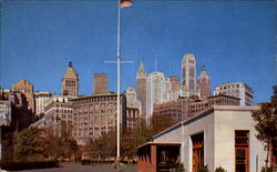 Battery Park In Lower Manhattan Postcard