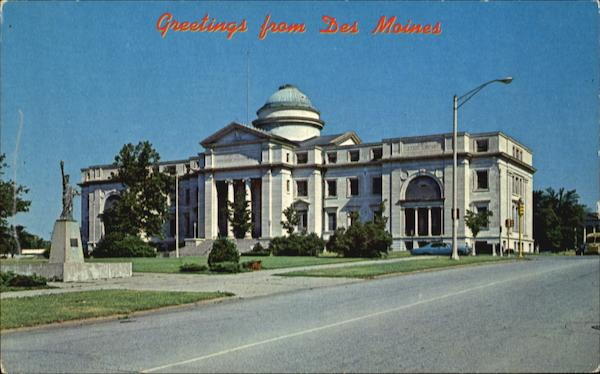 State historical memorial and art building des moines ia for Cost to build a house in iowa