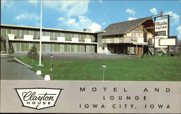 Clayton House Motel And Tree House Lounge, Hwy. 218 West Iowa City
