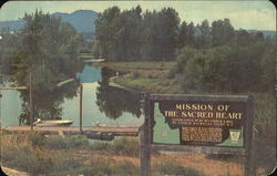Picturesque Site Of Idaho's First Mission, Hwy. 3, 6 miles N.W.