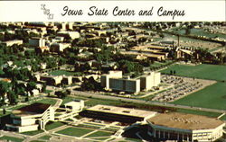 Aerial View Of Iowa State Center And ISU Campus