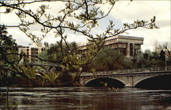The Iowa River Flows Past The Basic Sciences Building And The Nursing Building, The University of Iowa