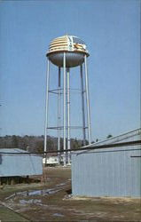 Water Tank Surrounded By Peanut Warehouses
