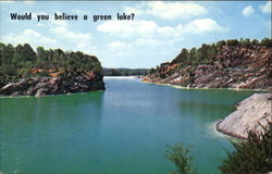 Would You Believe A Green Lake?