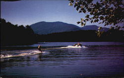 Waterskiing on Lake Louis