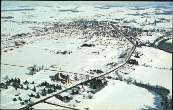 An Aerial View Of St. Lorenz Lutheran Church Frankenmuth Michigan