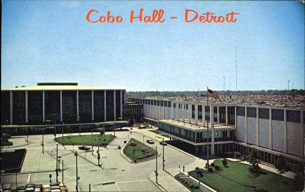 Cobo Hall And Convention Arena Front View Detroit Michigan