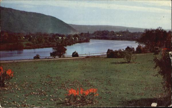 Connecticut River And Bellows Falls Vermont
