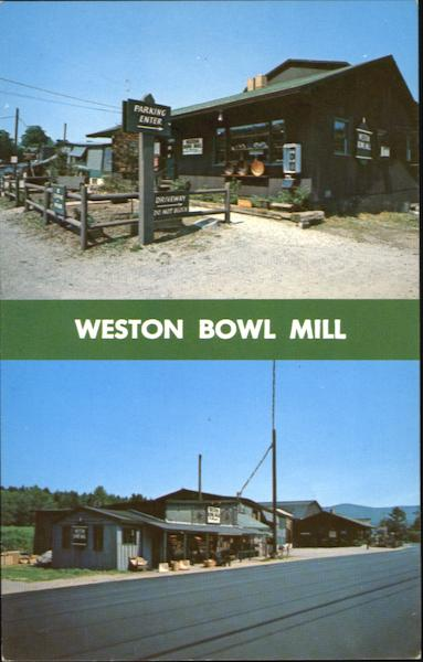Weston Bowl Mill, Route 100 Vermont