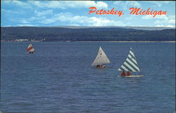 Sail Boat Racing On Little Traverse Bay
