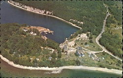 Aerial Of Fayette State Park Michigan