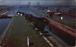 A General View Of The Soo Locks
