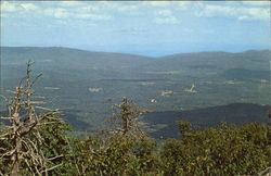 Panoramic View In Summer From The Top Of Bromley Mt.