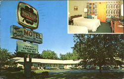 Town & Country Motel, 490 Shelburne Street Postcard