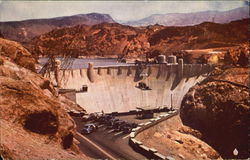 Boulder Dam And Lake Mead Postcard